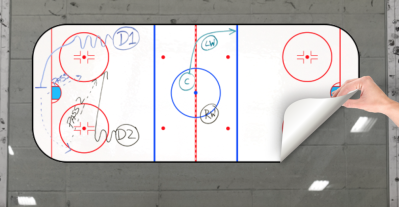 HOCKEY WRITEYBOARD  40 cm x 80 cm